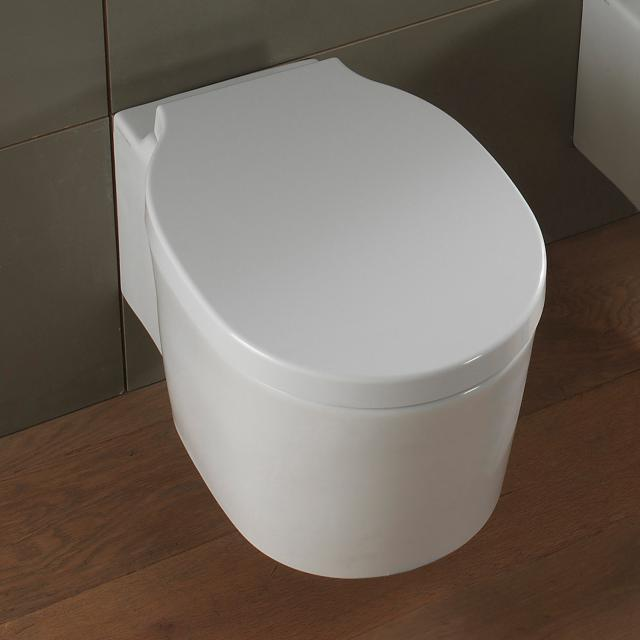 Scarabeo Bucket Wand-Tiefspül-WC mit Spülrand, weiß