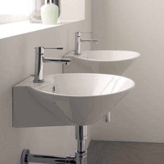 Scarabeo Cono R Aufsatz- oder Hängewaschbecken weiß, mit BIO System Beschichtung