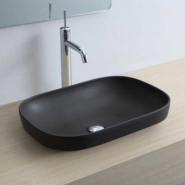 Scarabeo Glam Einbauwaschbecken schwarz matt, mit BIO System Beschichtung