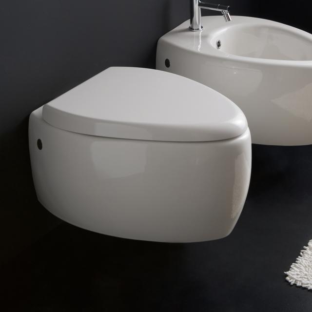 Scarabeo Moai Wand-Tiefspül-WC weiß, mit BIO System Beschichtung