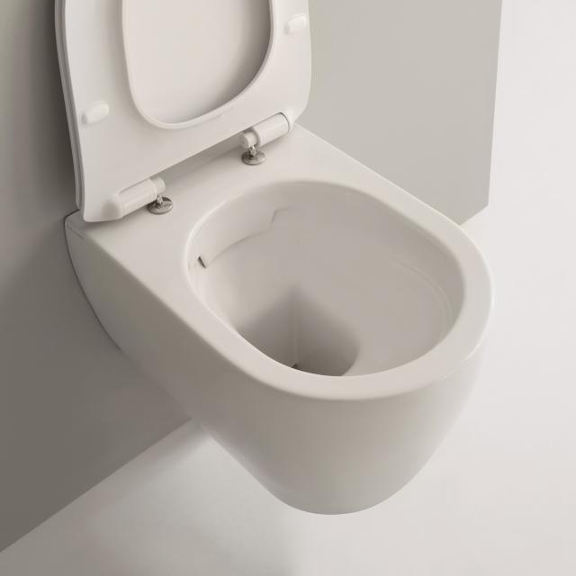 Scarabeo Moon Wand-Tiefspül-WC ohne Spülrand, weiß matt, mit BIO System Beschichtung