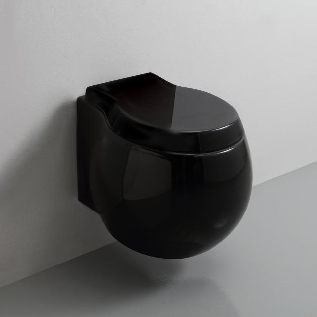 Scarabeo Planet Wand-Tiefspül-WC ohne Spülrand, schwarz