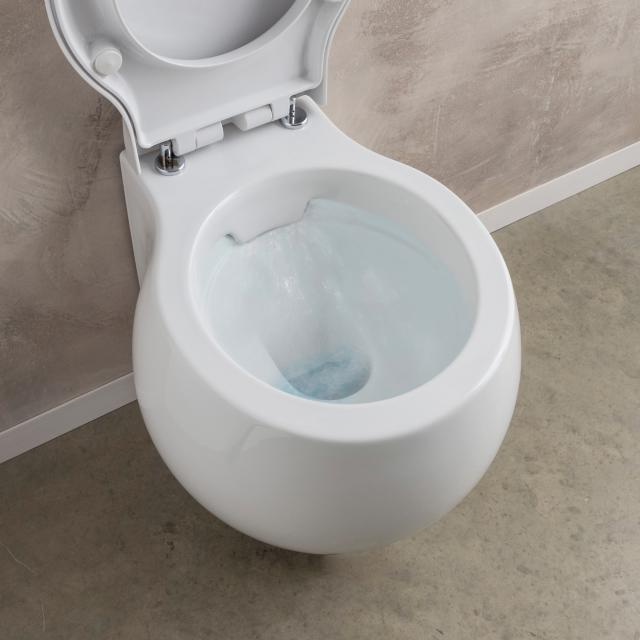 Scarabeo Planet Wand-Tiefspül-WC ohne Spülrand, weiß, mit BIO System Beschichtung