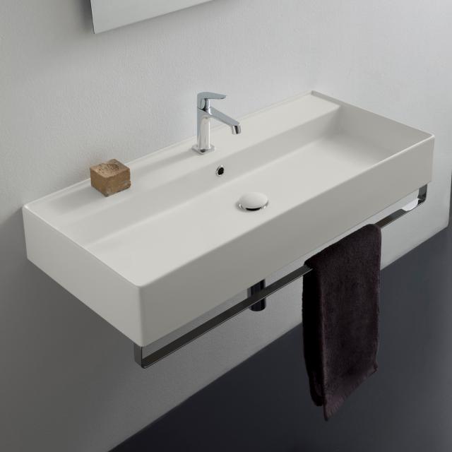 Scarabeo Teorema 2.0 Aufsatz- oder Hängewaschbecken weiß matt, mit BIO System Beschichtung