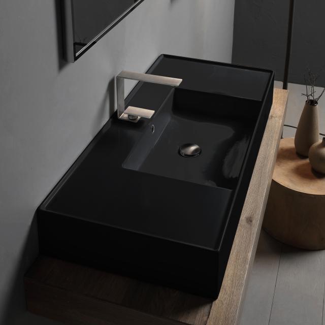 Scarabeo Teorema 2.0 Aufsatz- oder Hängewaschbecken schwarz, mit BIO System Beschichtung