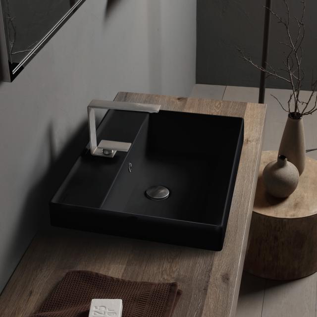 Scarabeo Teorema 2.0 Einbauwaschtisch schwarz matt, mit BIO System Beschichtung