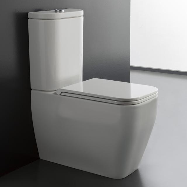 Scarabeo Teorema 2.0 Monoblock Stand-Tiefspül-WC für Kombination weiß, mit BIO System Beschichtung