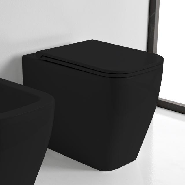Scarabeo Teorema 2.0 Stand-Tiefspül-WC schwarz matt, mit BIO System Beschichtung