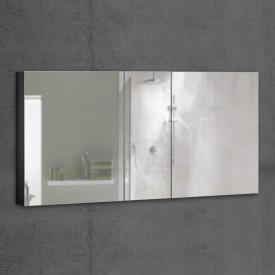 Schneider ADVANCEDLINE Comfort Spiegelschrank mit LED-Innenbeleuchtung mit 3 Türen schwarz matt