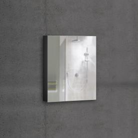 Schneider ADVANCEDLINE Comfort Spiegelschrank mit LED-Innenbeleuchtung mit 1 Tür schwarz matt