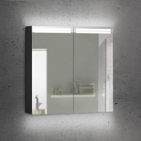 Schneider ARANGALINE Spiegelschrank mit 2 Türen schwarz matt