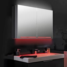 Schneider GRACELINE Spiegelschrank mit 2 Türen und LED-Waschtischbeleuchtung