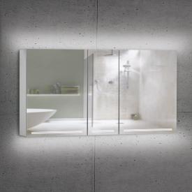 Schneider GRACELINE Spiegelschrank mit 3 Türen silber eloxiert