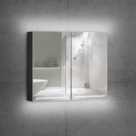 Schneider GRACELINE Spiegelschrank mit 2 Türen schwarz matt