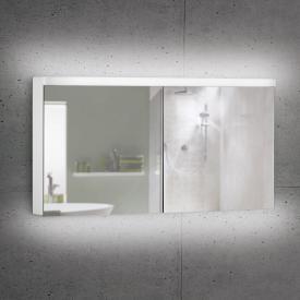Schneider LOWLINE Plus Spiegelschrank mit 2 Türen neutralweiß, mit Steckdose links und rechts