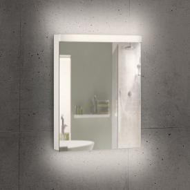 Schneider LOWLINE Plus Spiegelschrank mit 1 Tür warmweiß, mit Steckdose links