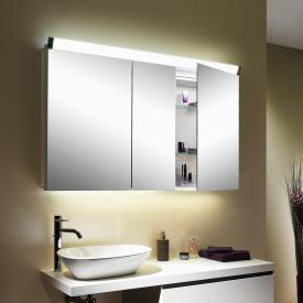 Schneider PALILINE Spiegelschrank mit 3 Türen, mit Beleuchtung silber eloxiert