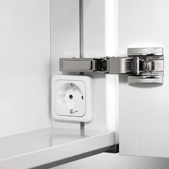 Schneider ELUALINE Spiegelschrank, mit 2 Türen silber eloxiert
