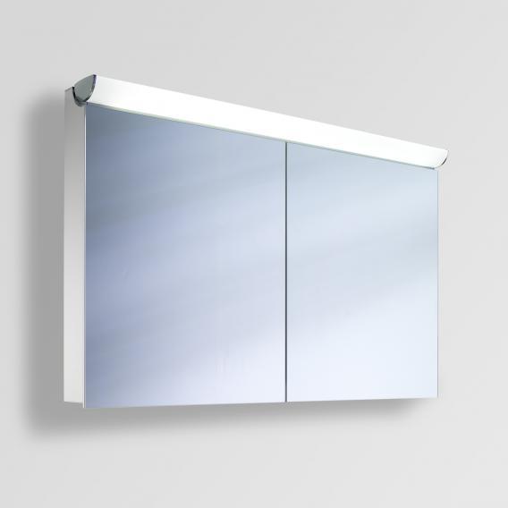 Schneider FACELINE Spiegelschrank mit LED-Beleuchtung silber eloxiert