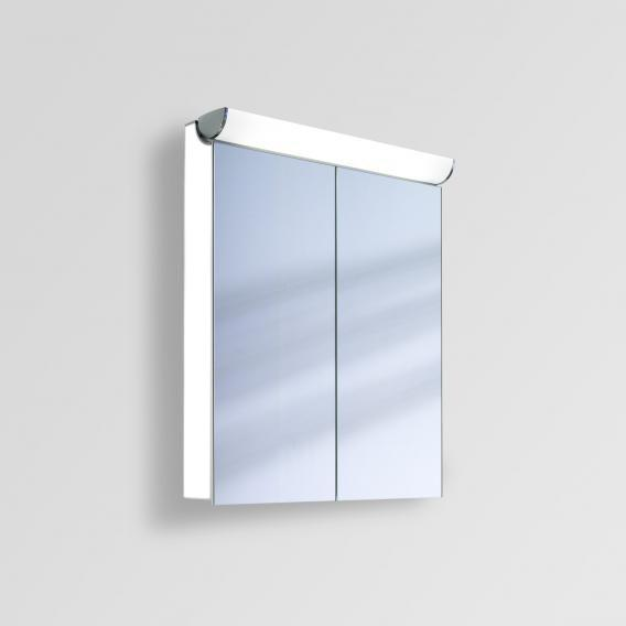 Schneider FACELINE Spiegelschrank mit LED-Beleuchtung weiß, Steckdose links