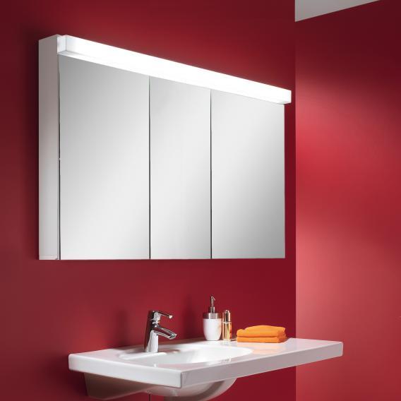 Schneider LOWLINE FL Spiegelschrank mit Beleuchtung, mit 3 Türen