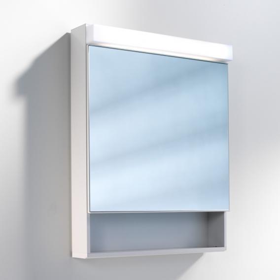 Schneider LOWLINE Spiegelschrank mit LED-Beleuchtung, mit 1 Tür, mit offenem Fach