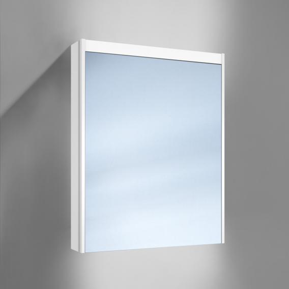 Schneider O-Line Aufputz Spiegelschrank, 1-türig, mit Waschtischbeleuchtung