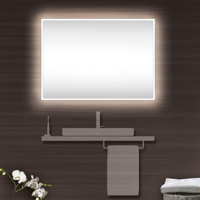 Schneider A-LINE Spiegel mit LED-Beleuchtung silber eloxiert, ohne Soundsystem
