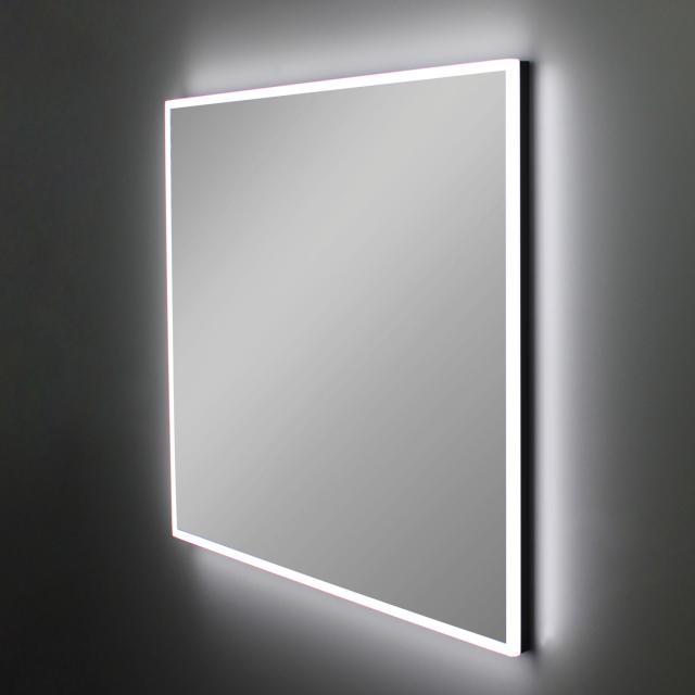Schneider A-LINE Spiegel mit LED-Beleuchtung schwarz matt, mit Soundsystem