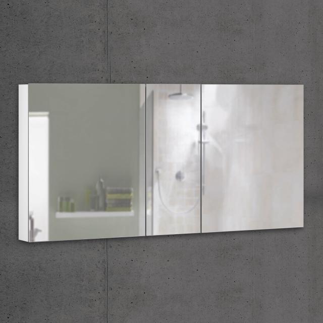 Schneider ADVANCEDLINE Comfort Spiegelschrank mit LED-Innenbeleuchtung mit 3 Türen weiß