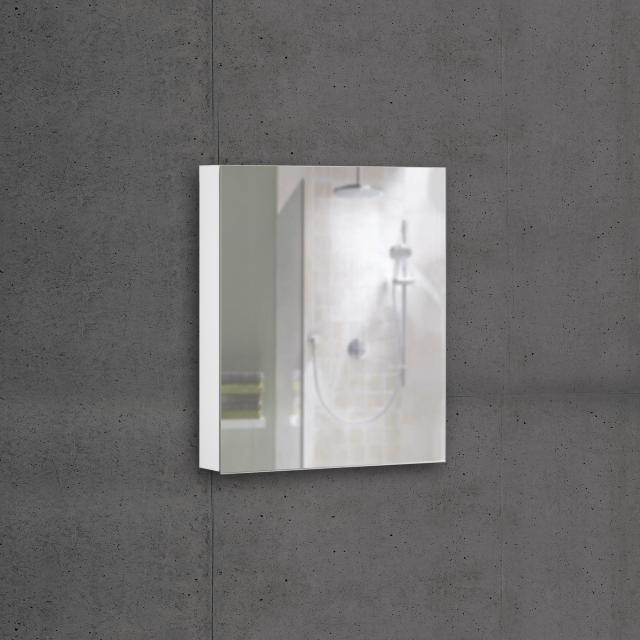 Schneider ADVANCEDLINE Comfort Spiegelschrank mit LED-Innenbeleuchtung mit 1 Tür weiß