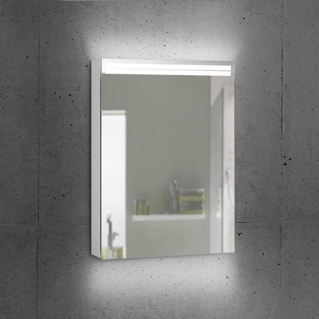 Schneider ARANGALINE Spiegelschrank mit 1 Tür silber eloxiert