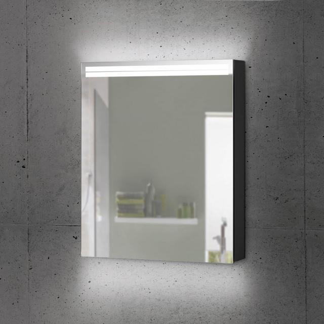 Schneider ARANGALINE Spiegelschrank mit 1 Tür schwarz matt