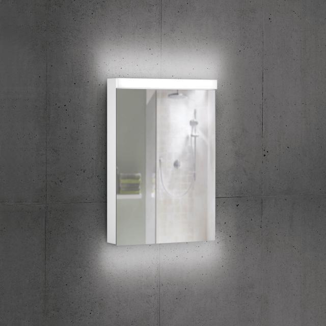 Schneider DAILYLINE Ultimate Spiegelschrank mit LED-Beleuchtung mit 1 Tür Steckdose links