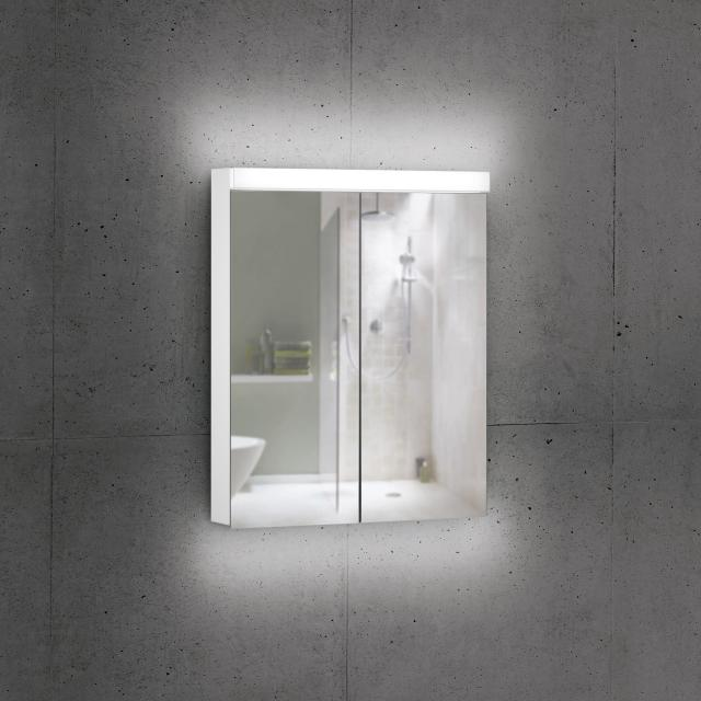 Schneider DAILYLINE Ultimate Spiegelschrank mit LED-Beleuchtung mit 2 Türen Steckdose links