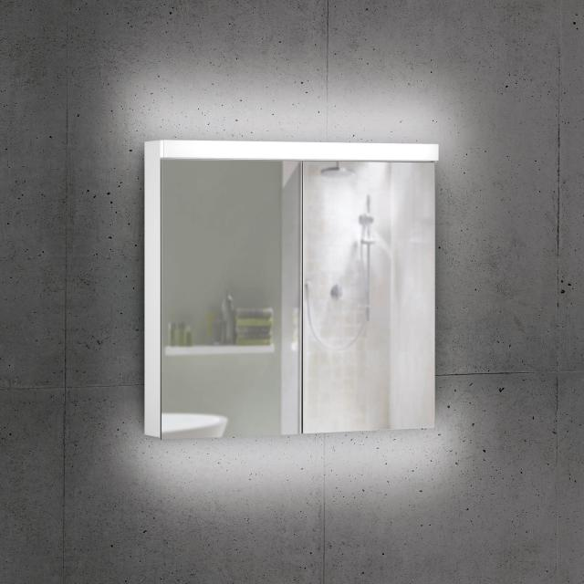 Schneider DAILYLINE Ultimate Spiegelschrank mit LED-Beleuchtung mit 2 Türen Steckdose links und rechts