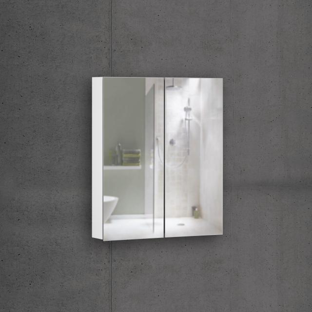Schneider EASYLINE Comfort Spiegelschrank mit 2 Türen Steckdose rechts