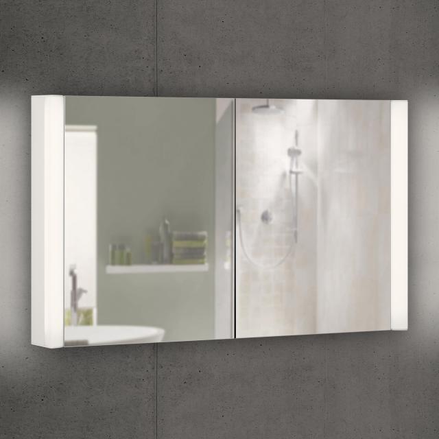 Schneider EASYLINE Superior Spiegelschrank mit LED-Beleuchtung mit 2 Türen warmweiß