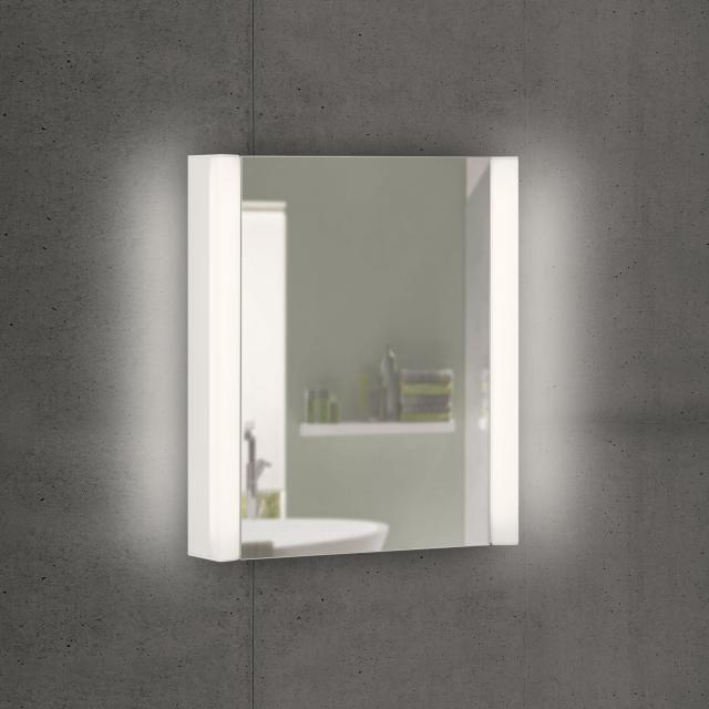 Schneider EASYLINE Superior Spiegelschrank mit LED-Beleuchtung mit 1 Tür warmweiß