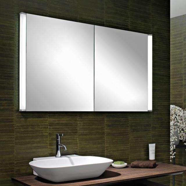 Schneider ELUALINE Spiegelschrank, mit 2 Türen weiß