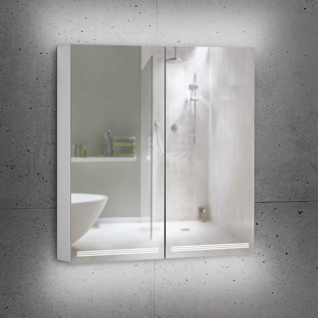 Schneider GRACELINE Spiegelschrank mit 2 Türen silber eloxiert