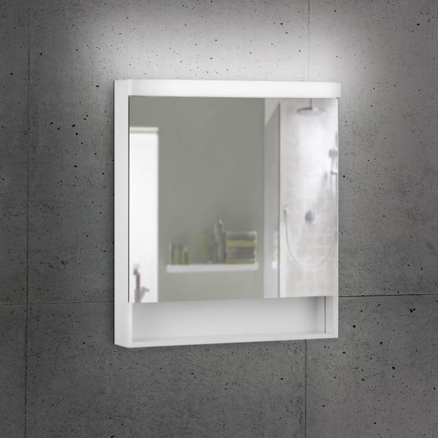 Schneider LOWLINE Basic Spiegelschrank mit 1 Tür und offenem Fach neutralweiß