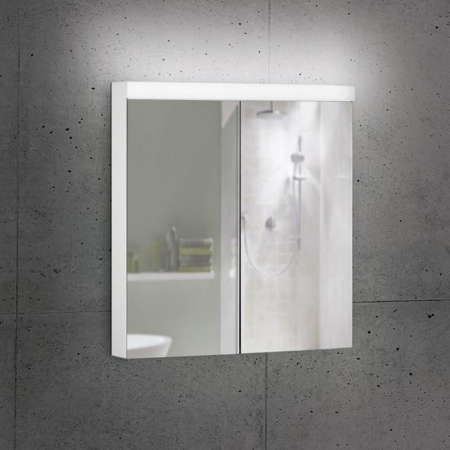 Schneider LOWLINE Basic Spiegelschrank mit 2 Türen neutralweiß