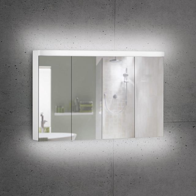 Schneider LOWLINE Plus Spiegelschrank mit 3 Türen neutralweiß
