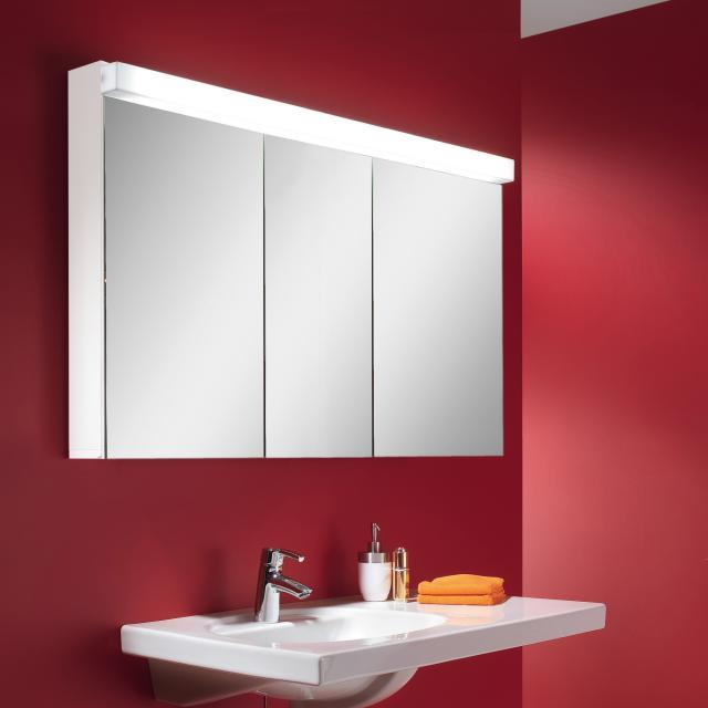 Schneider LOWLINE Spiegelschrank mit LED-Beleuchtung, mit 3 Türen