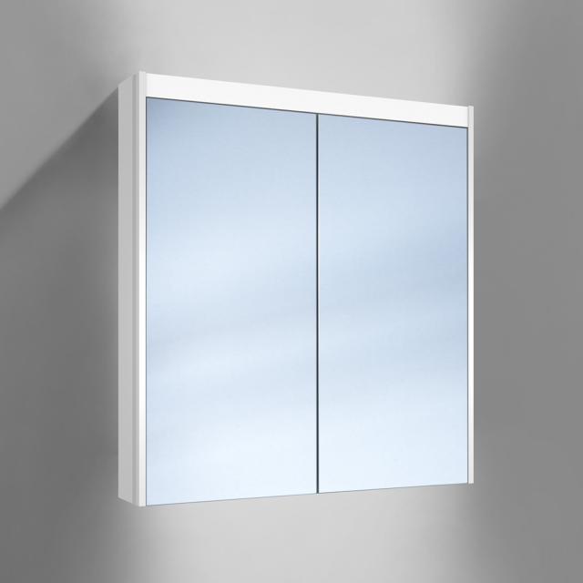 Schneider O-Line Aufputz Spiegelschrank, 2 Türen, mit Waschtischbeleuchtung