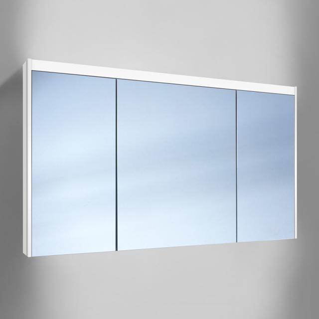Schneider O-Line Aufputz Spiegelschrank, 3-türig, mit Waschtischbeleuchtung