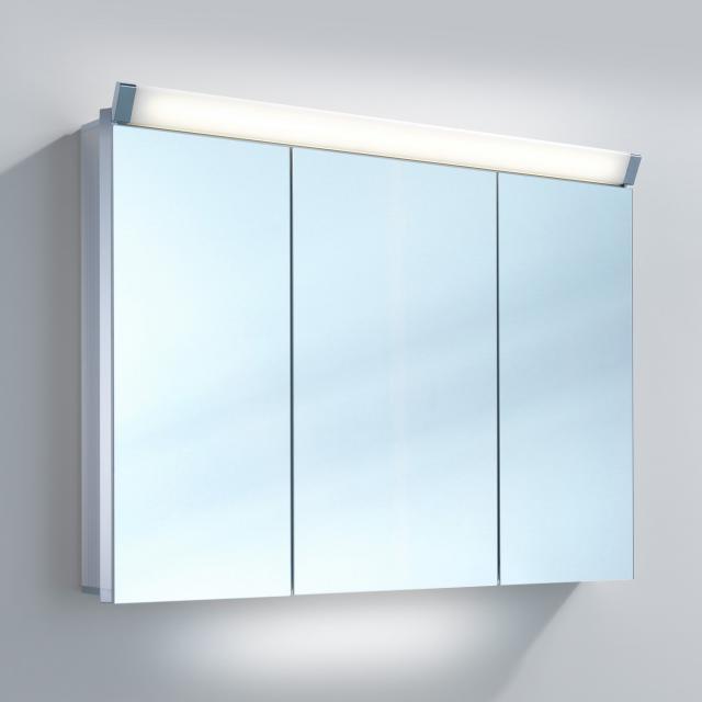 Schneider PALILINE Spiegelschrank mit 3 Türen silber eloxiert