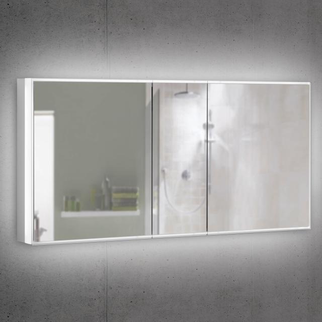 Schneider PREMIUMLINE Superior Spiegelschrank mit LED-Beleuchtung mit 3 Türen