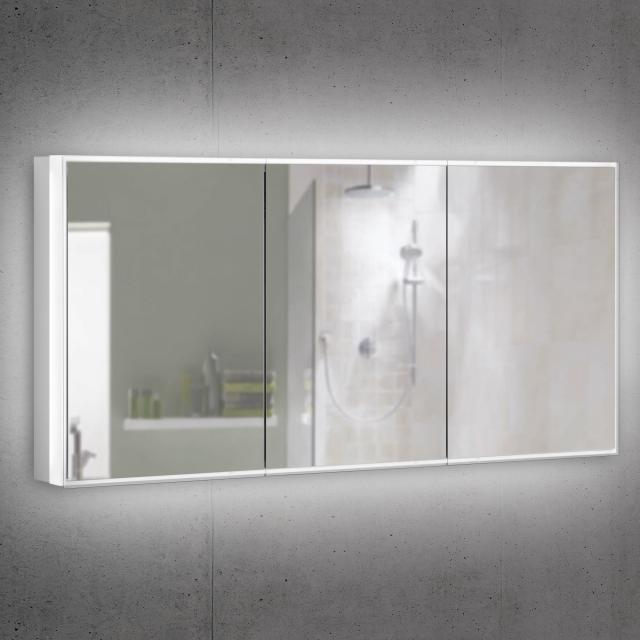 Schneider PREMIUMLINE Superior Spiegelschrank mit LED-Beleuchtung mit 3 gleichgroßen Türen